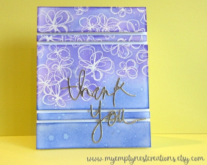Distress Ink Blended Thank You Card by My Empty Nest Creations