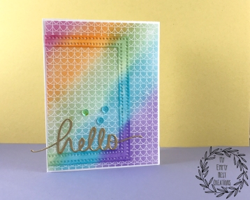 My Empty Nest Creations Distress Ink Blended Rainbow Card
