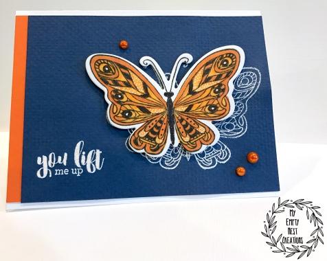 My Empty Nest Creations Card using Hampton Art's Lift Me Up Stamp Set