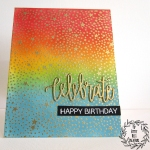 Rainbow Ink Blending Birthday Card by My Empty Nest Creations