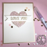 My Empty Nest Creations Card using Lil' Inker Designs Filled Heart stamp set