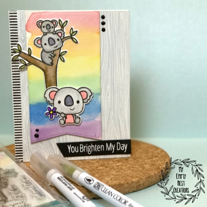 My Empty Nest Creations Card using Reverse Confetti's Bear Hugs Stamp Set