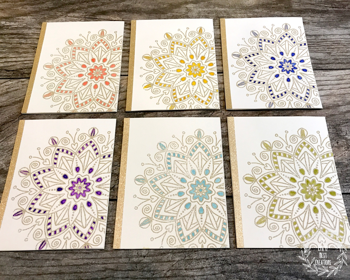 My Empty Nest Creations using Simon Says Stamp Star Flower stamp