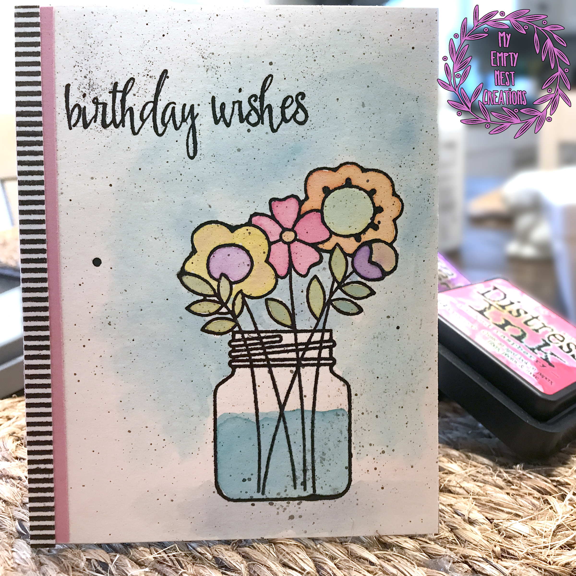 My Empty Nest Creations Paper Smooches Best Buds Birthday Card
