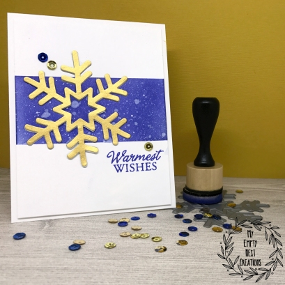 Simon Says Stamp Funky Snowflake card by My Empty Nest Creations
