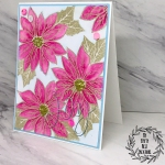 My Empty Nest Creations Inspired by Stamping Pink Poinsettia Card