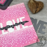 My Empty Nest Creations Cascading Hearts Love Card