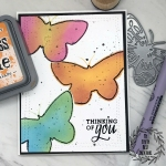 My Empty Nest Creations Multi Color Ink Blended Butterflies card