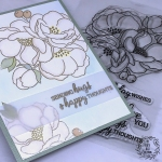 My Empty Nest Creations Magnolia Blossoms Hugs Card