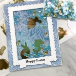 My Empty Nest Creations Gold Bunny Hoppy Easter Shaker Card