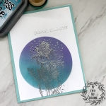 My Empty Nest Creations Ink Blended Silver Embossed Sympathy Card