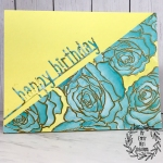 My Empty Nest Creations Distress Oxide Watercolor Floral Birthday Card