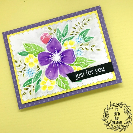 My Empty Nest Creations Concord & 9th's Hello Lovely Just For You card
