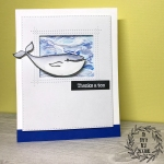 My Empty Nest Creations Thanks a Ton Whale Card using Ellen Hutson's S'Whale stamps