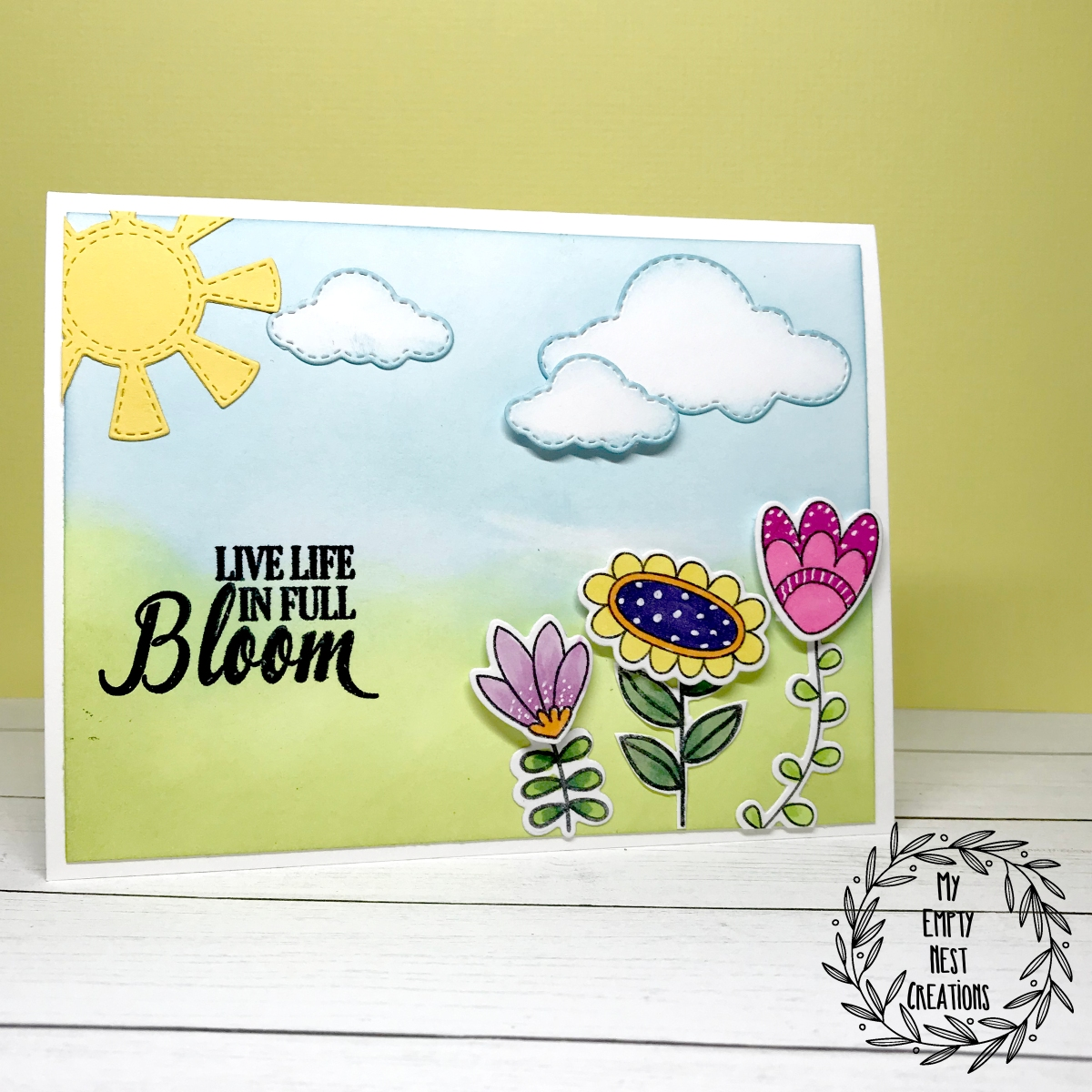 My Empty Nest Creations Simple Floral Scene Card