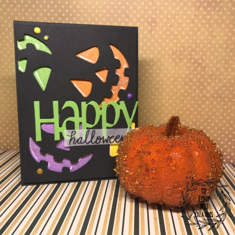 My Empty Nest Creations EK Success Jack o Lantern punch Halloween card