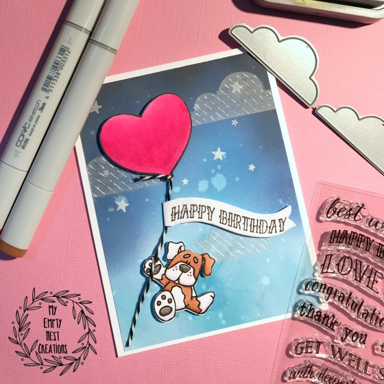 My Empty Nest Creations Birthday Card using Bugaboo Digital RPHello image