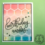 My Empty Nest Creations Multi Color Hexagonal Birthday Wishes Card